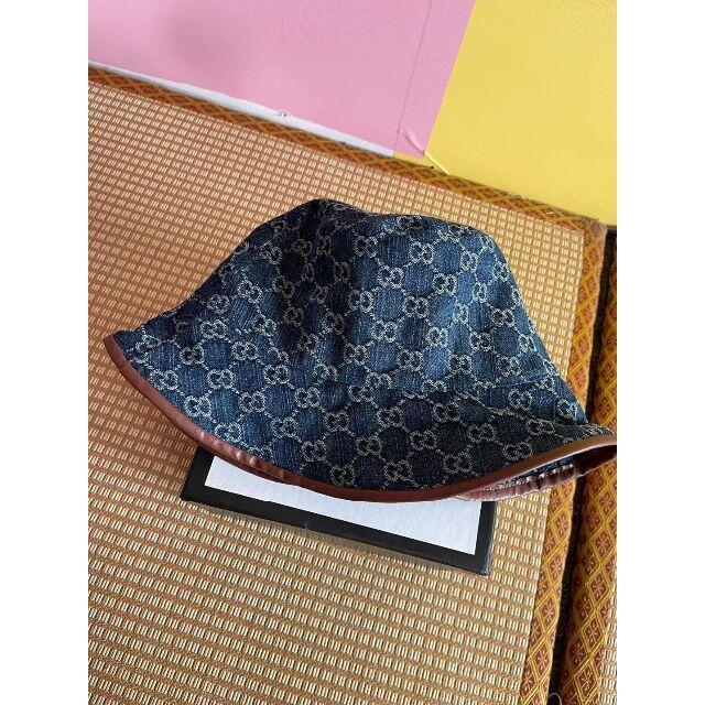 Gucci(グッチ)のGUCCI☆ロゴ GGジャカードキャンバス バケットハット レディースの帽子(ハット)の商品写真