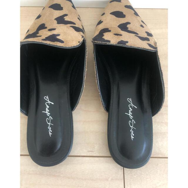 ANAP(アナップ)のお値下げanap レオパードバブーシューズ レディースの靴/シューズ(スリッポン/モカシン)の商品写真
