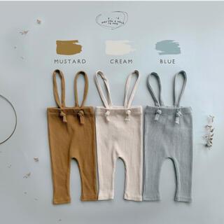 Baby サロペット パンツ  オフホワイト70(ロンパース)