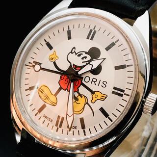 オリス(ORIS)のかわいい★ORIS オリス★ミッキーマウス★ホワイト★メンズ★腕時計★機械式手巻(腕時計(アナログ))