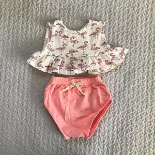 ビームスボーイ(BEAMS BOY)の韓国子供服 2ピース セット フラミンゴ🦩(Tシャツ/カットソー)