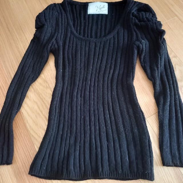 Noela(ノエラ)のノエラ トップス ニット 長袖 ブラック レディースのトップス(ニット/セーター)の商品写真