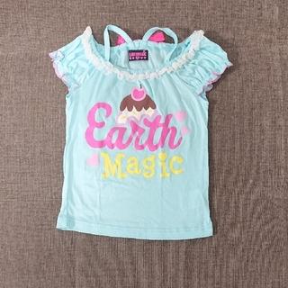 アースマジック(EARTHMAGIC)の110cm アースマジックアイスクリーム柄バックリボンTシャツ(Tシャツ/カットソー)
