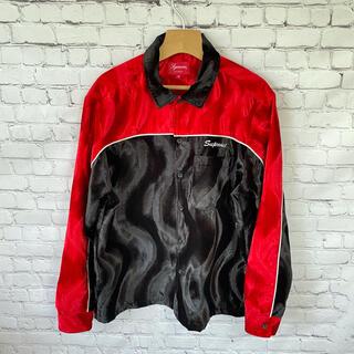 Supreme - シュプリーム SUPREME 18SS シャツ ベロア 赤 黒 ジャケット