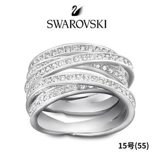 SWAROVSKI - 未使用 スワロフスキー スパイラル リング シルバー 15号(55)