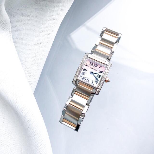 Cartier(カルティエ)の【仕上済】カルティエ タンク フランセーズ PG ダイヤ レディース 腕時計 レディースのファッション小物(腕時計)の商品写真
