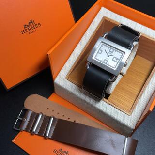 Hermes - 【良品 稼働品】エルメス 腕時計 バレニア 新品レザーベルト 2本セット 正規品