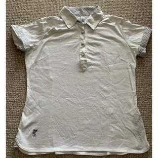 アシュワース(Ashworth)のASHWORTH ゴルフウェア チェックポロシャツ 白(ポロシャツ)