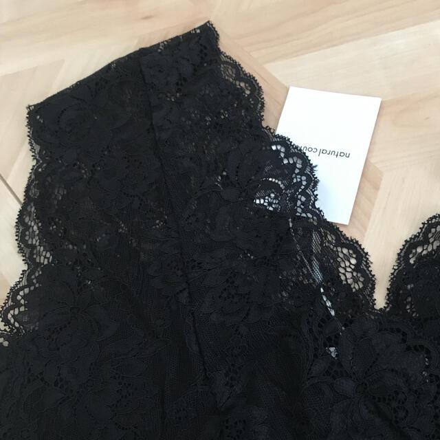 natural couture(ナチュラルクチュール)のnatural couture ❤︎総レースタンク ブラック レディースのトップス(タンクトップ)の商品写真