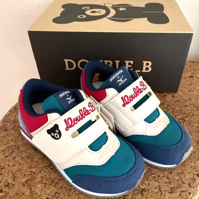 DOUBLE.B(ダブルビー)の☆新品☆ ミキハウス×ミズノ ダブルビースニーカー16センチ キッズ/ベビー/マタニティのキッズ靴/シューズ(15cm~)(スニーカー)の商品写真