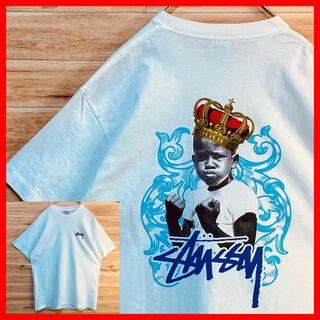 STUSSY - 【美品】【 USA製】stussy ステューシー tシャツ  半袖 白
