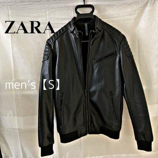 ザラ(ZARA)のZARA MAN  ザラ Sサイズライダースジャケット レザージャケット(ライダースジャケット)