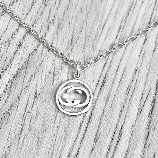 Gucci(グッチ)の正規品 グッチ ネックレス GG シルバー 丸 インターロッキング チェーン 4 メンズのアクセサリー(ネックレス)の商品写真