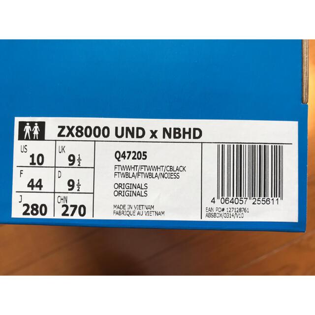 NEIGHBORHOOD(ネイバーフッド)のadidas ZX8000 UNDxNBHD undefeated US10 メンズの靴/シューズ(スニーカー)の商品写真