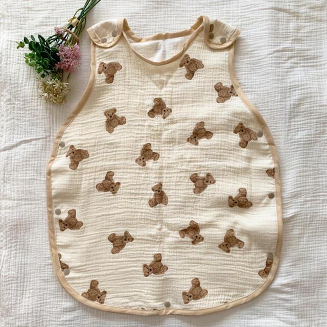 スリーパー(くま)韓国生地 キッズ/ベビー/マタニティのこども用ファッション小物(おくるみ/ブランケット)の商品写真
