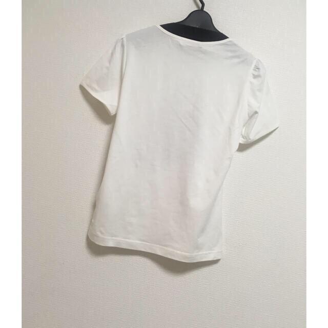 GALLERY VISCONTI(ギャラリービスコンティ)のギンガムパールバックモチーフが可愛い半袖カットソー レディースのトップス(カットソー(半袖/袖なし))の商品写真