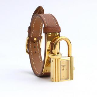 Hermes - HERMES ⭐️ケリーウォッチ 腕時計 レディース クオーツ 茶色 ゴールド