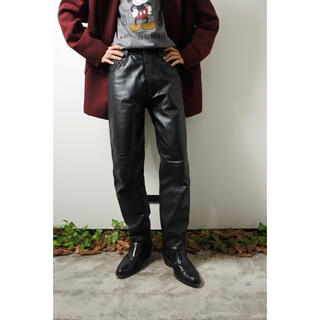 80s Euro tapered leather pants