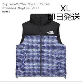 Supreme - 新品 Supreme TNF Studded Nuptse Vest 青XL