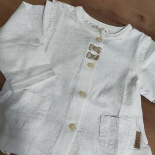 キムラタン - リリーアイボリーキムラタンカーディガン80白長袖カットソー春夏服Tシャツ新品同様