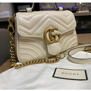 Gucci - グッチ GGマーモント ミニトップハンドルバッグ