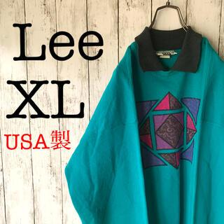 Lee - 【古着男子×ゆるだぼ】メンズ スウェット Lee 希少 XL 1点物★アメリカ製