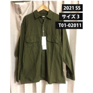 コモリ(COMOLI)のCOMOLI 21SS新作 ベタシャン CPO シャツ オリーブ サイズ3(シャツ)