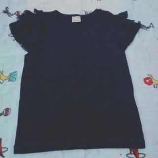petit main - 100cm プティマイン Tシャツ チュール袖