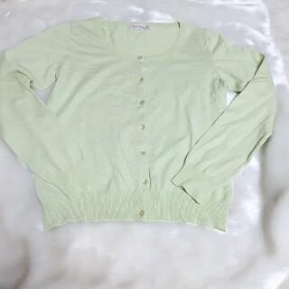 シマムラ(しまむら)の【処分セール】カーディガン 長袖 美品 グリーン(カーディガン)