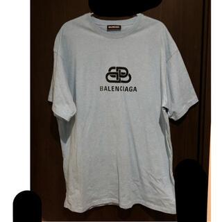 バレンシアガ(Balenciaga)のBALENCIAGA ロゴ Tシャツ 水色(Tシャツ/カットソー(半袖/袖なし))