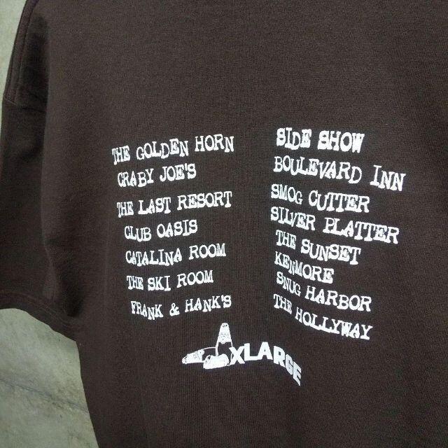 XLARGE(エクストララージ)のXLAGE エクストララージ usa製 Tシャツ 90s  M ブラウン ロゴ メンズのトップス(Tシャツ/カットソー(半袖/袖なし))の商品写真