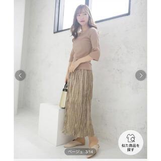 PROPORTION BODY DRESSING - 春物新品cheekドットドッキングニットワンピース