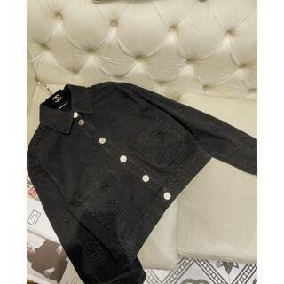 CHANEL - CHANEL 21SS ジャケット デニム ブラック