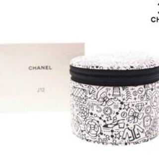 CHANEL - 【新品】シャネル ノベルティ ポーチ 時計保管ケース J12 箱付き 白