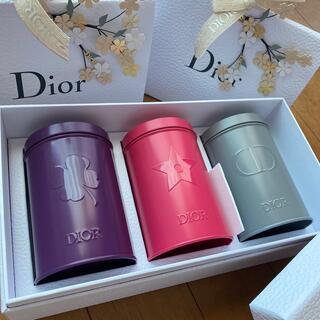 Christian Dior - 【新品未使用】Dior プラチナ会員ギフト 缶3色セット ノベルティ 非売品