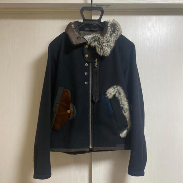 kolor ハードメルトンブルゾン メンズのジャケット/アウター(ブルゾン)の商品写真