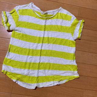 ザラキッズ(ZARA KIDS)のZARA リネン ボーダーTシャツ 140(Tシャツ/カットソー)