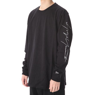 Yohji Yamamoto - 新品 タグ付 ヨウジヤマモト NEWERA コラボ 袖ロゴ ロング Tシャツ M