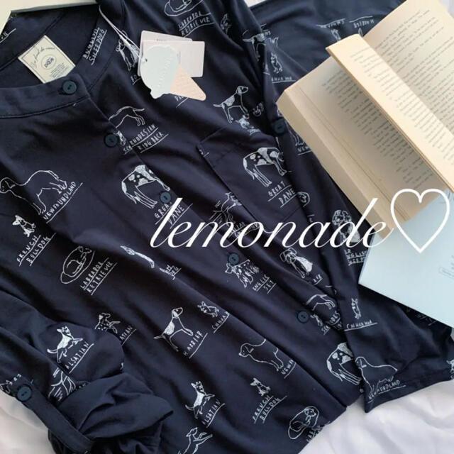 gelato pique(ジェラートピケ)のレア♡ドッグモチーフドレス♡ネイビー レディースのルームウェア/パジャマ(ルームウェア)の商品写真