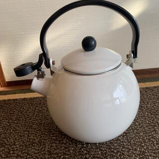 ニトリ - ニトリ*ホーロー笛吹ケトル やかん ホワイト IH ガス火