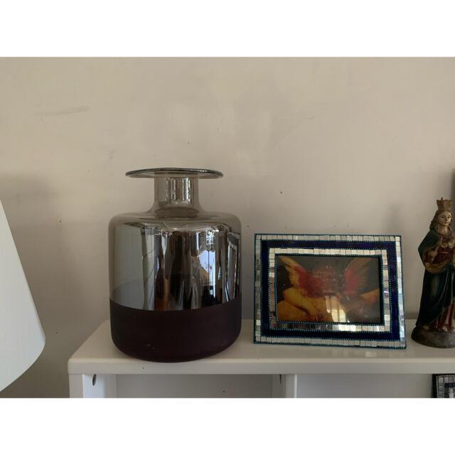 ZARA HOME(ザラホーム)の大きなミラー加工バイカラーフラワーベース●ブラウン花瓶 インテリア/住まい/日用品のインテリア小物(花瓶)の商品写真