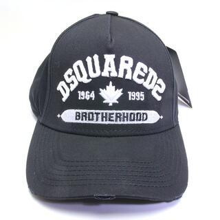 ディースクエアード(DSQUARED2)の新品 ディースクエアード ロゴ キャップ ベースボール 帽子 黒 ブラック 加工(キャップ)