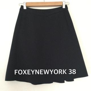 FOXEY - フォクシーニューヨーク FOXEYNEWYORK スカート 38  ネイビー