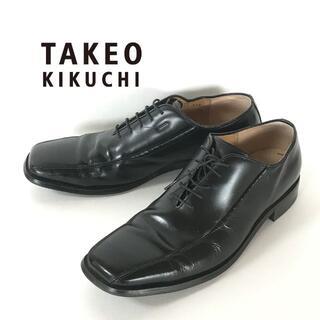 TAKEO KIKUCHI - TAKEO KIKUCHI タケオキクチ TK 革靴 ビジネスシューズ ブラック