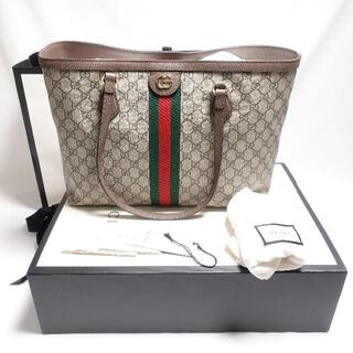 Gucci - GUCCI オフィディアGGミディアトート レディース ブラウン