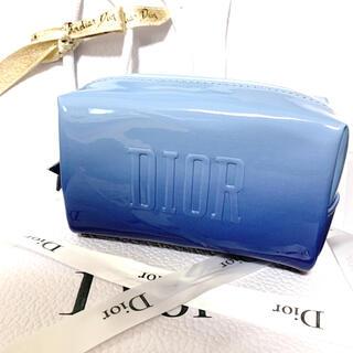 ディオール(Dior)のディオール ノベルティ ポーチ スターチャーム ブルー(ポーチ)