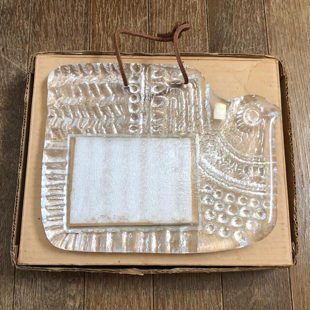 東洋佐々木ガラス(トウヨウササキガラス)のSASAKI CRYSTAL ササキ クリスタル 鳥 鏡 昭和レトロ ビンテージ インテリア/住まい/日用品のインテリア小物(壁掛けミラー)の商品写真