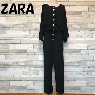 ZARA - 【人気】ザラ シェルボタン ロンパース オールインワン サイズL レディース