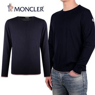 MONCLER - 3 MONCLER ネイビー トリコロールライン セーター size L