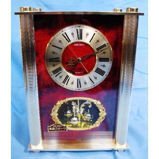 セイコー(SEIKO)の未使用★ <ザ・デザイン置時計> セイコー 日本製 回転飾り付き 高級 置き時計(置時計)